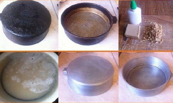 як почистити сковорідку