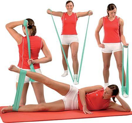 Вправи з резинкою для жінок