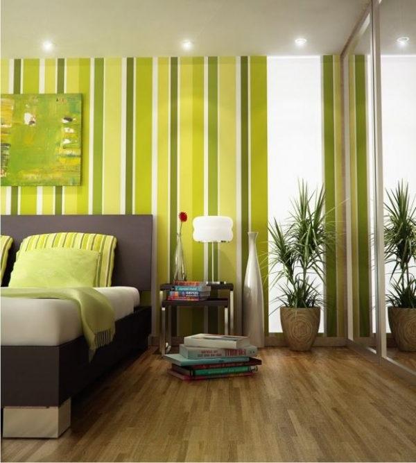 Спальня в зелених тонах