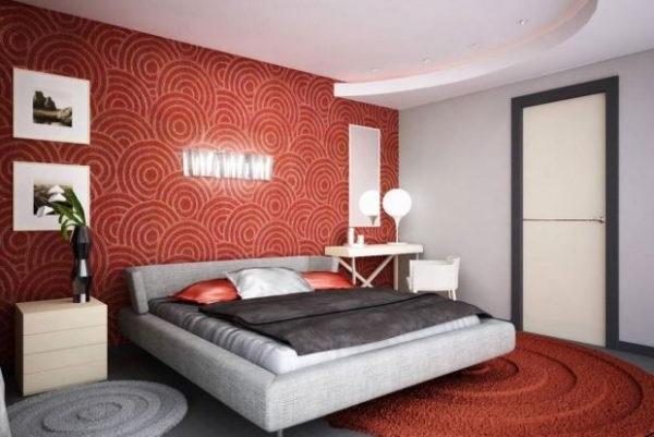 Оформлення спальні в червоних тонах