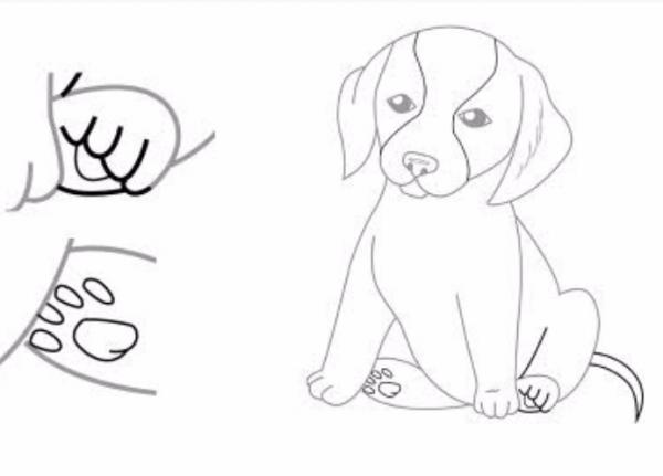 як намалювати собаку що сидить