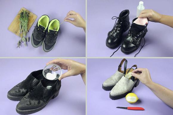 як можна вивести неприємний запах з взуття