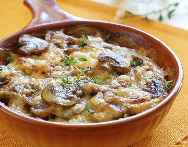 Картопляна запіканка з грибами