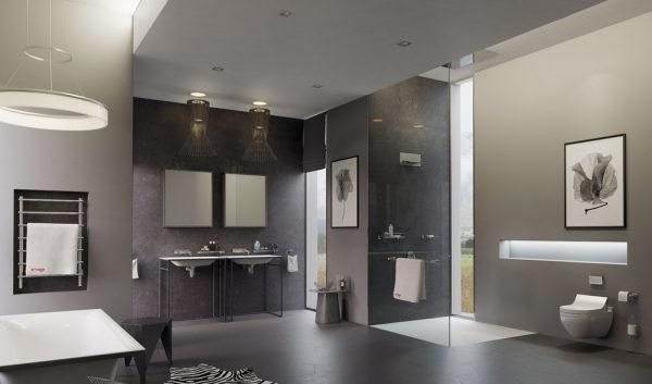 Дизайн ванної кімнати в стилі мінімалізм