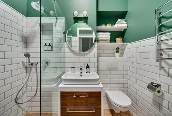 дизайн ванної кімнати 3 кв.м фото