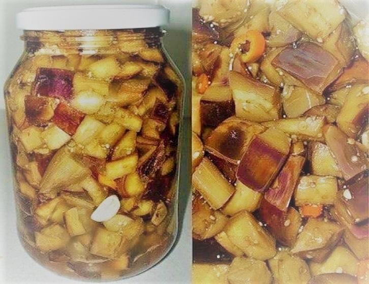 салат із баклажанів на зиму