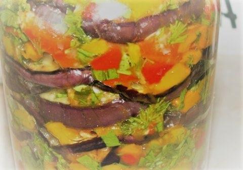 салати з баклажанів консервація