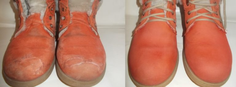 як пофарбувати замшеве взуття