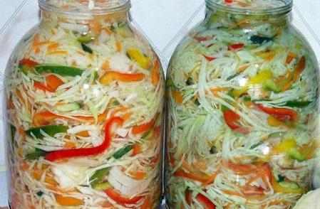салат з капусти рецепт на зиму