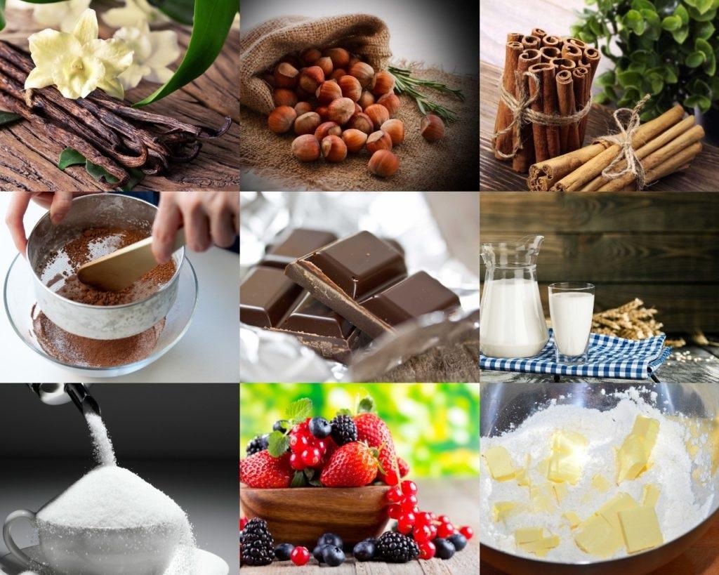 Інгредієнти для шоколадного пудингу з лісовими горіхами