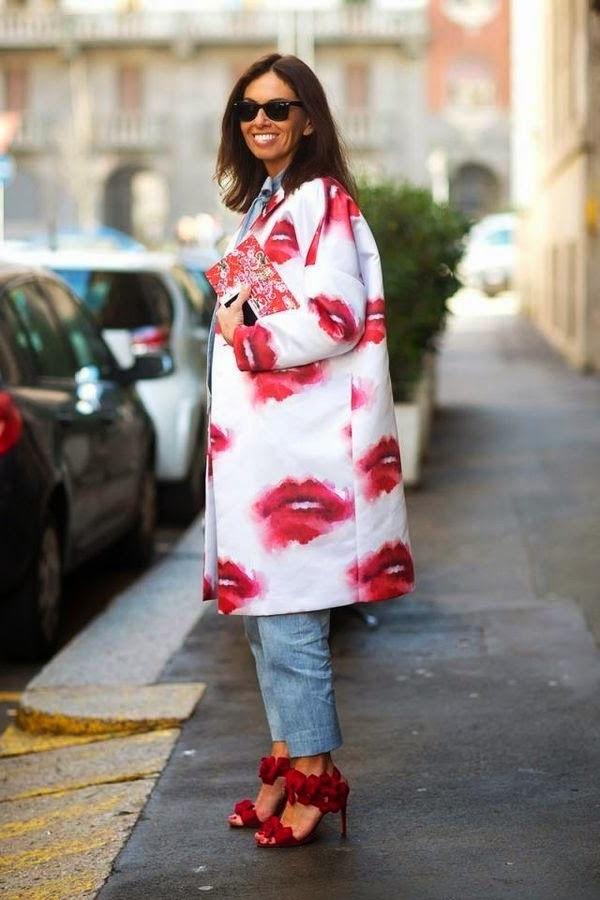 жіноче пальто з принтом