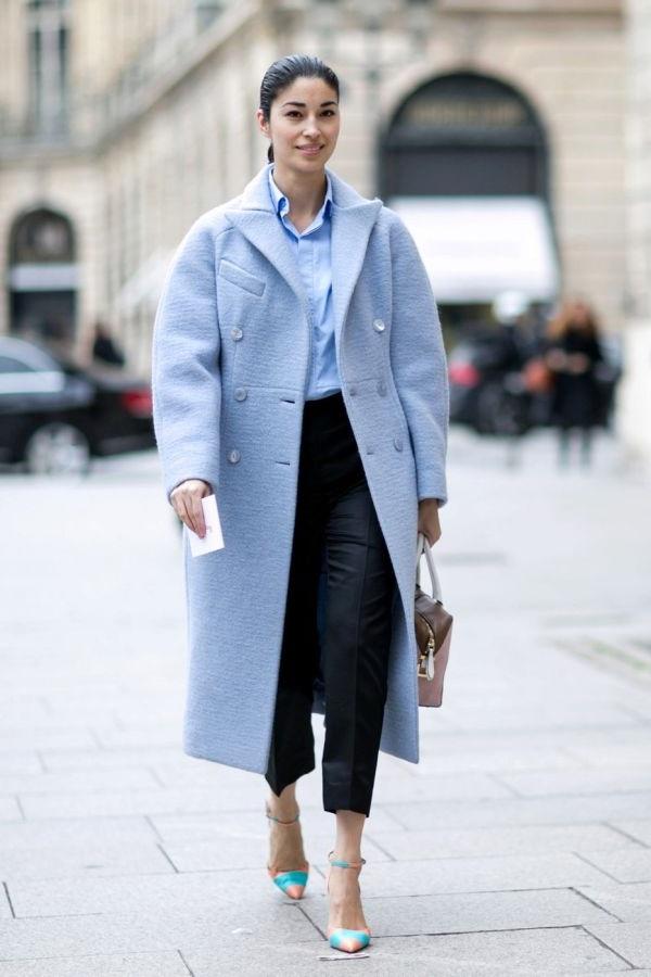 Light blue пальто жіноче
