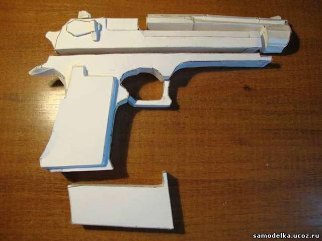 как сделать пистолет из бумаги легко