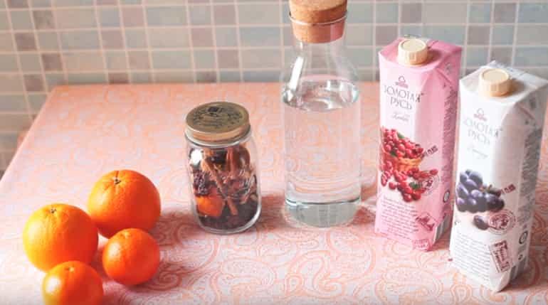 інгредієнти для глінтвейну