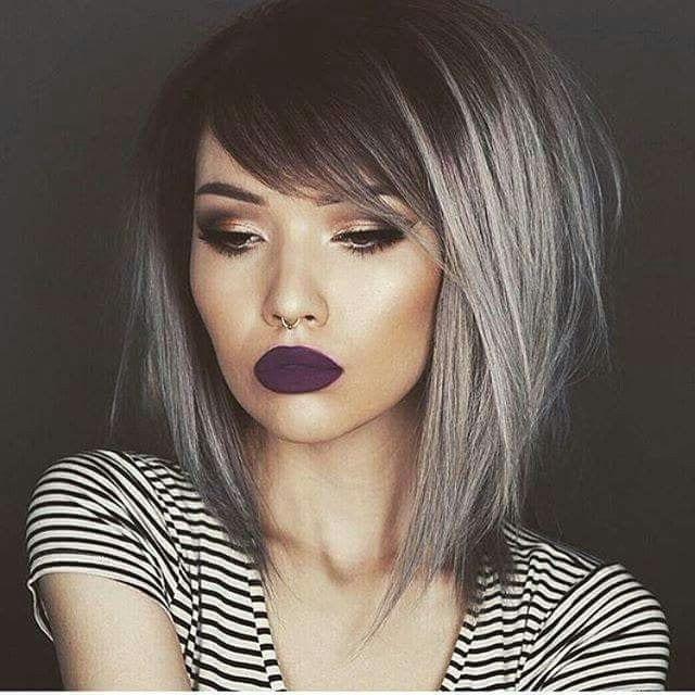 фарбування чолки на коротке волосся