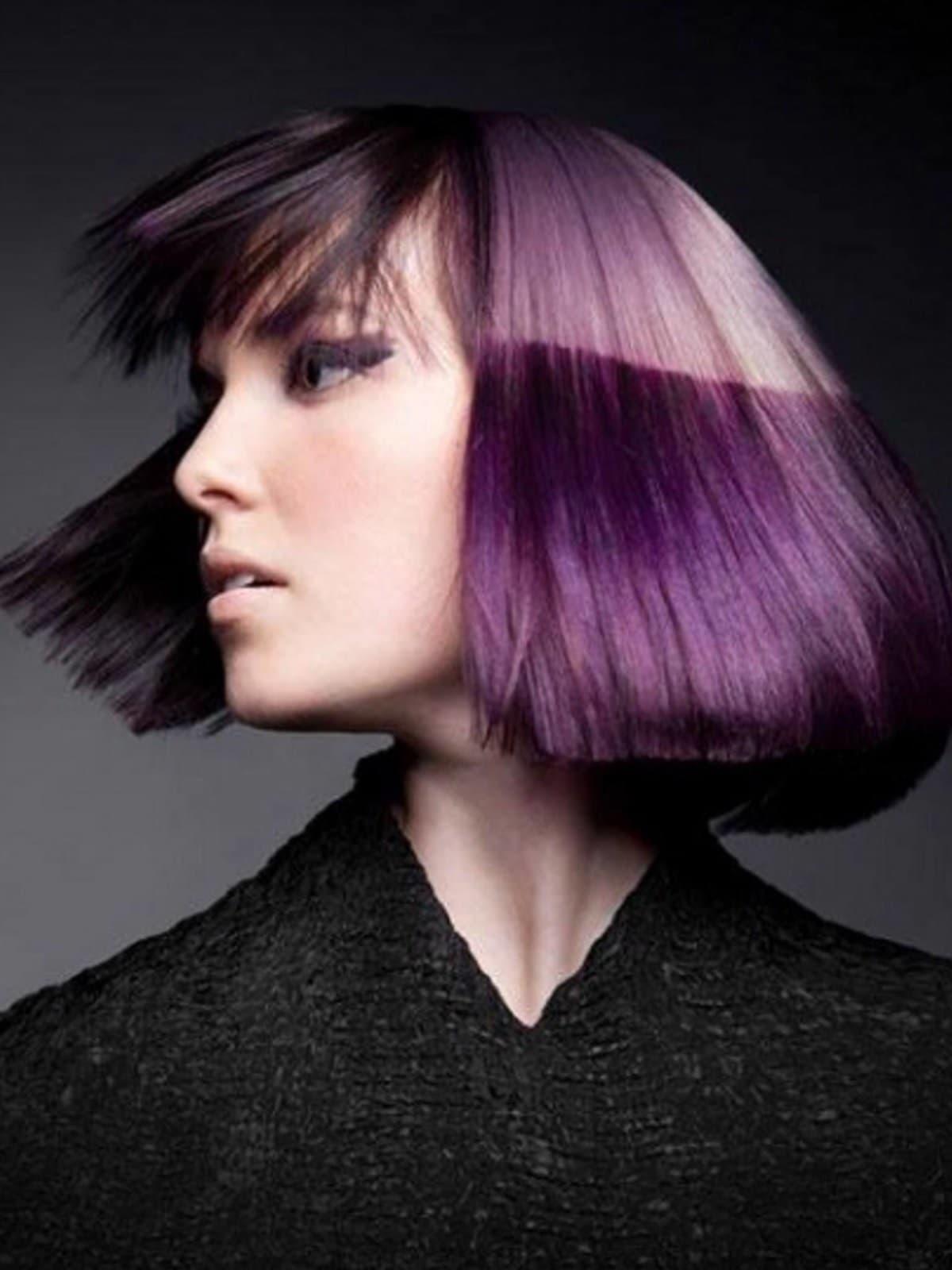 Двоколірне фарбування короткого волосся