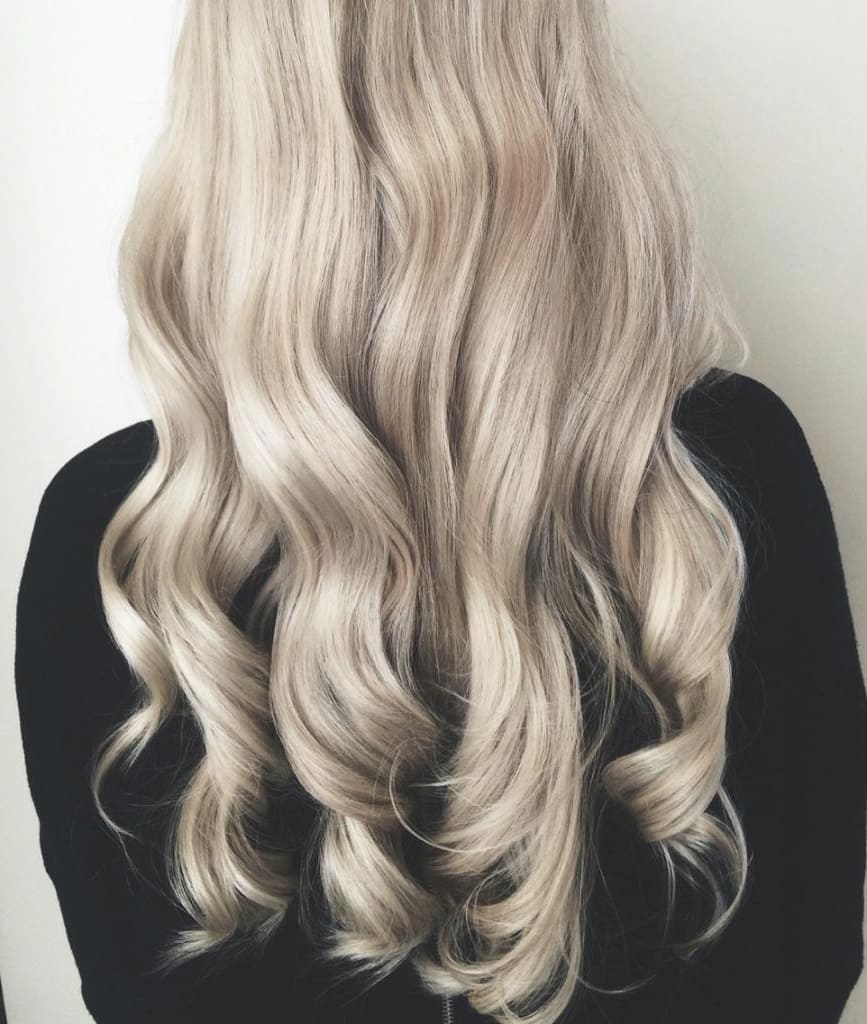перловий блонд на довге волосся