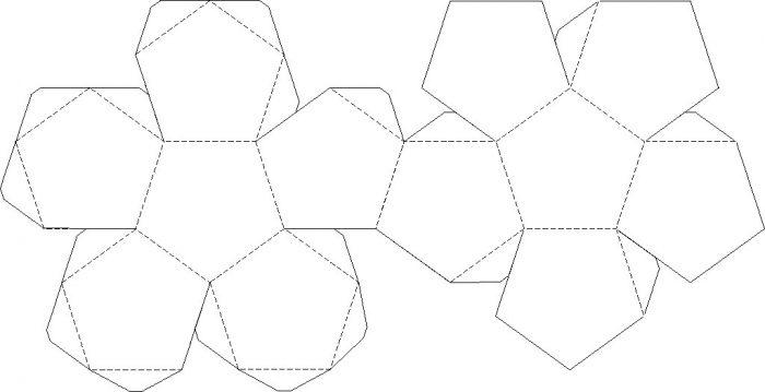 шаблон паперової кулі