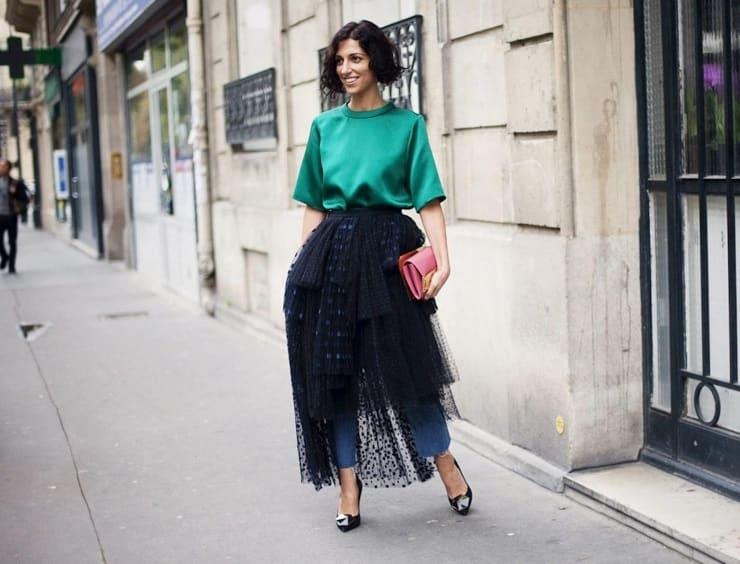 джинси з сукнею