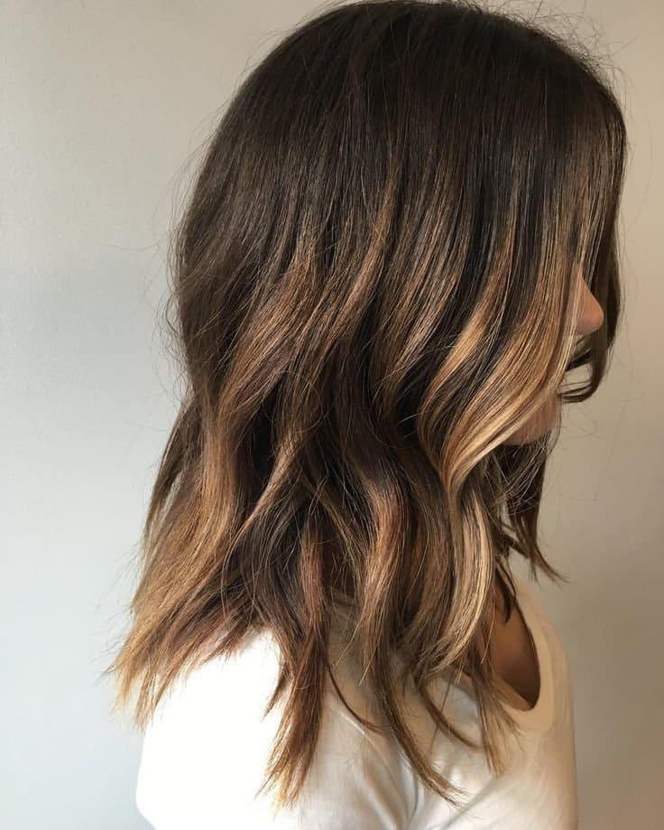 модні тенденції фарбування середнього волосся 2019