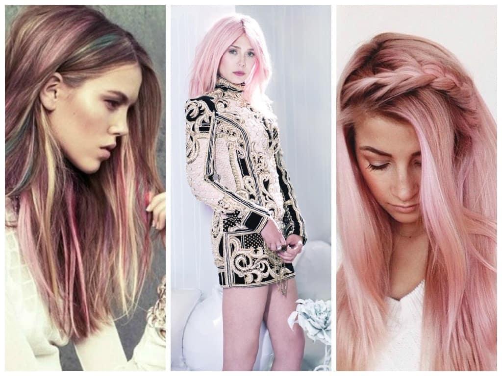 рожеві тони фарбування волосся 2019