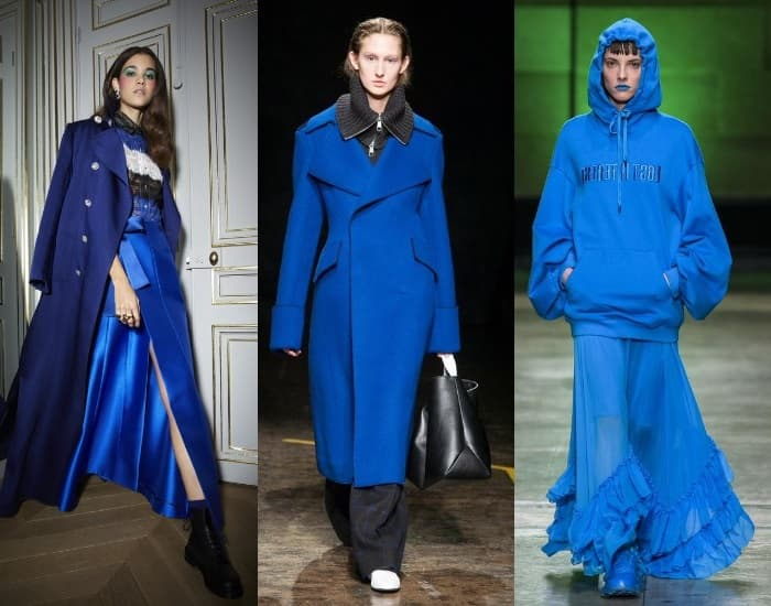 модні тренди 2019 синій колір