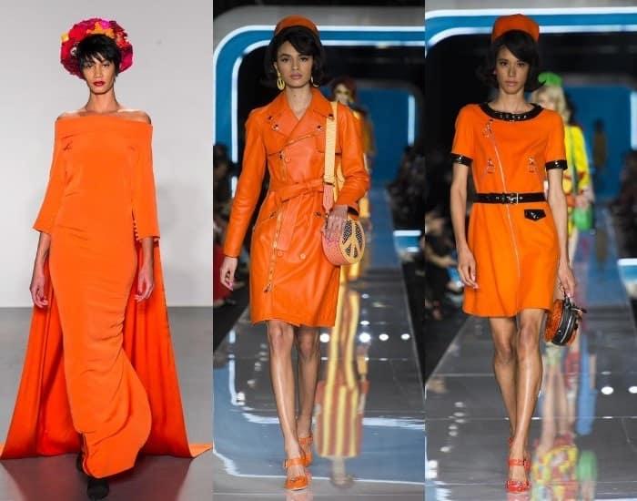 помаранчевий колір в жіночому одязі 2019