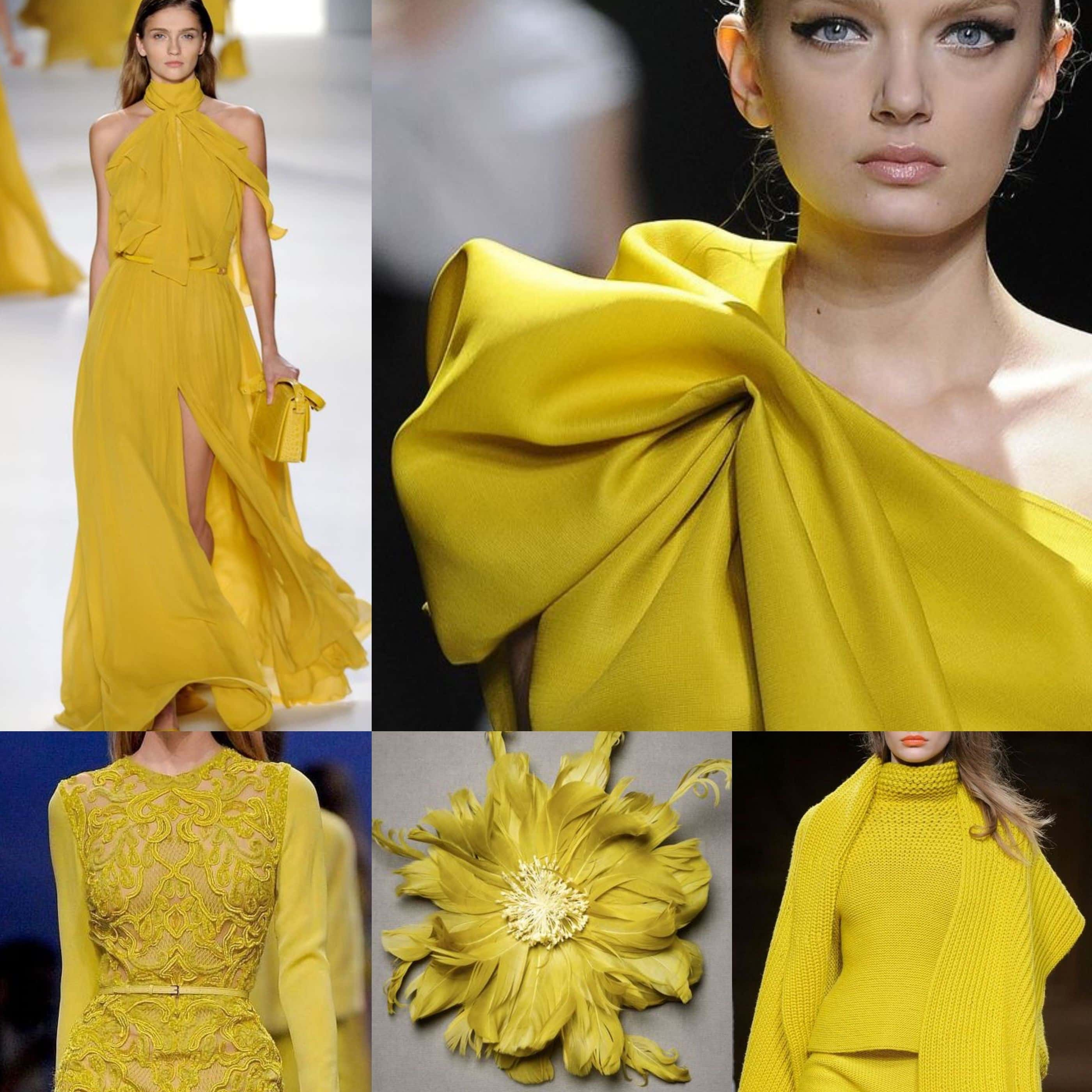 Жовтий цейлон відтінок в одязі 2019