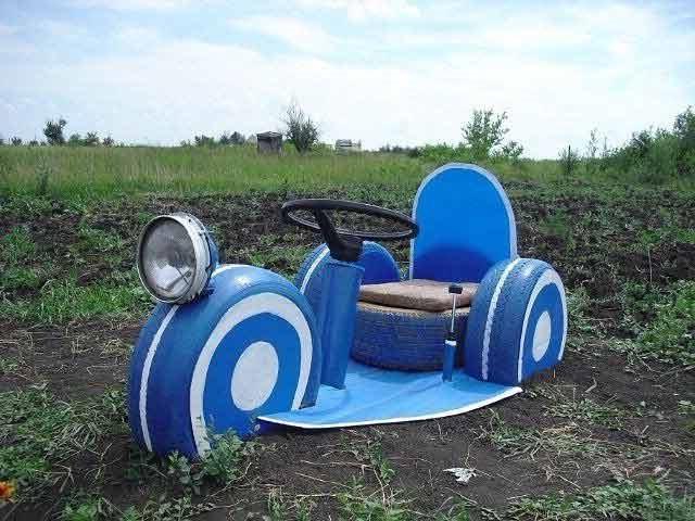 мотоцикл з шин