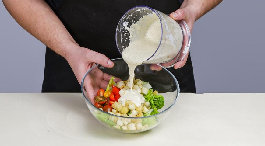 як зробити салат цезар покроковий рецепт фото