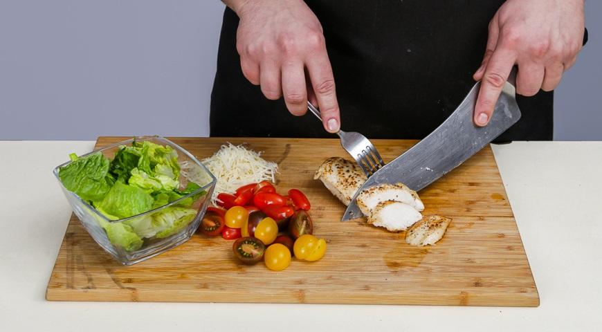 покроковий рецепт приготування салату цезар