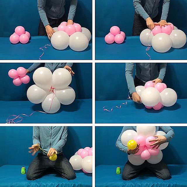 як зробити квіти з шариків