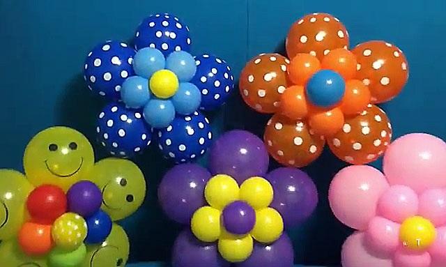 квіти з надувних шариків