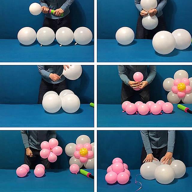 квіти з повітряних кульок своїми руками