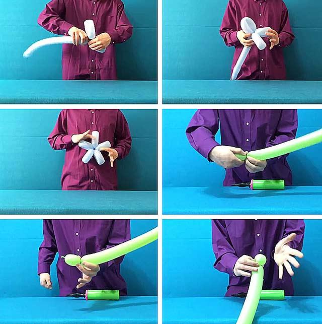 як зробити квітку з шариків
