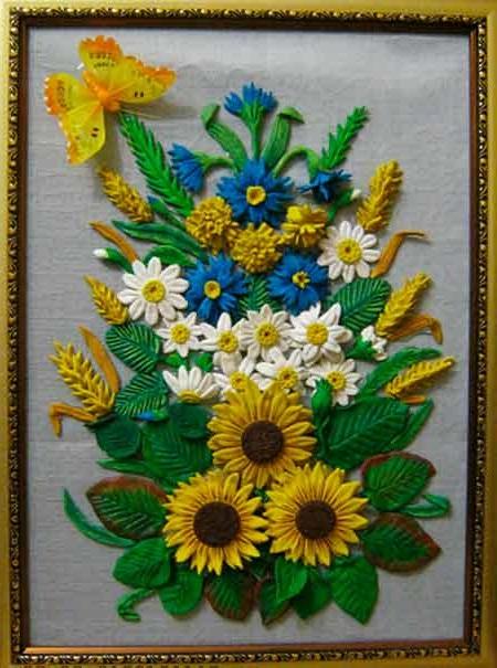 квіточки з солоного тіста