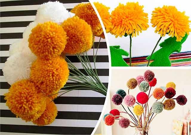 квіти з помпонів