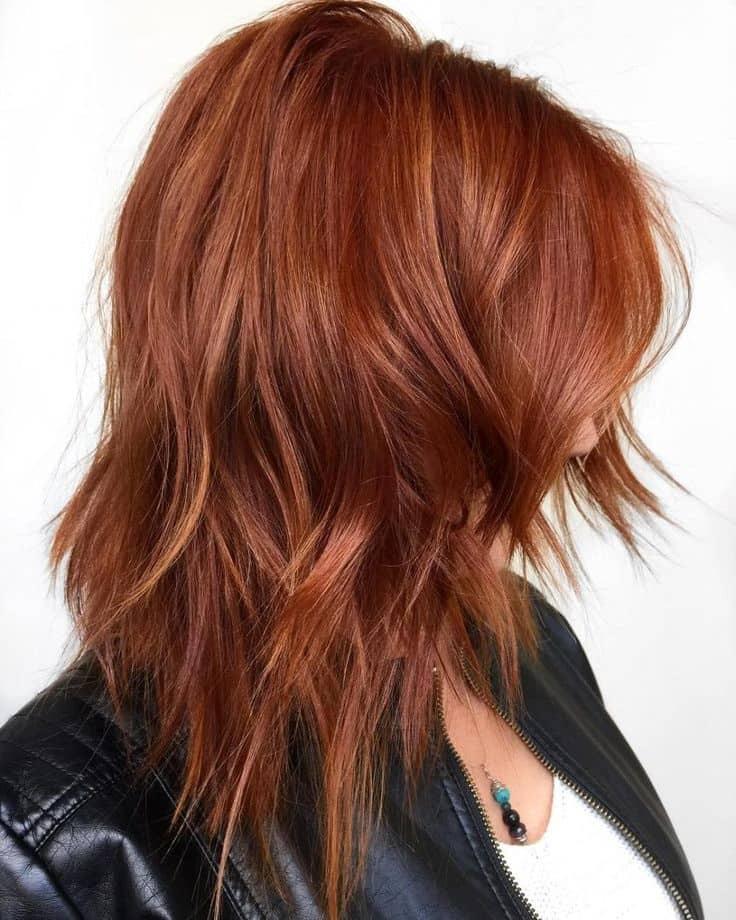 мідний колір середньому волоссі 2019