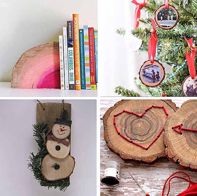 новорічні вироби з дерева своїми руками