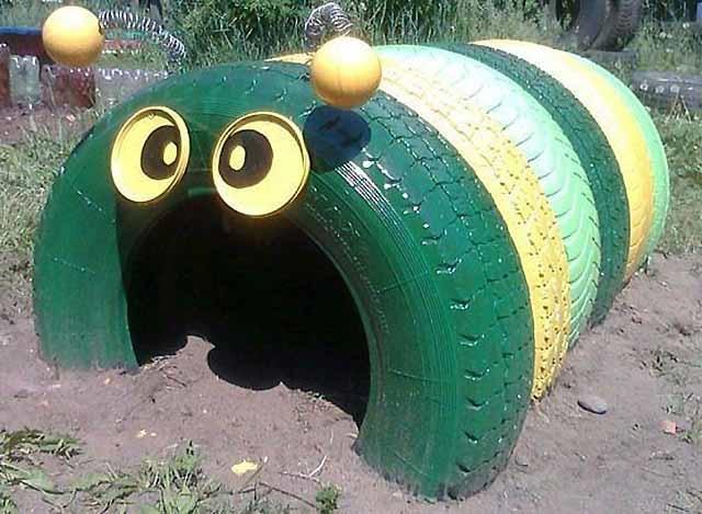 гусениця з шин