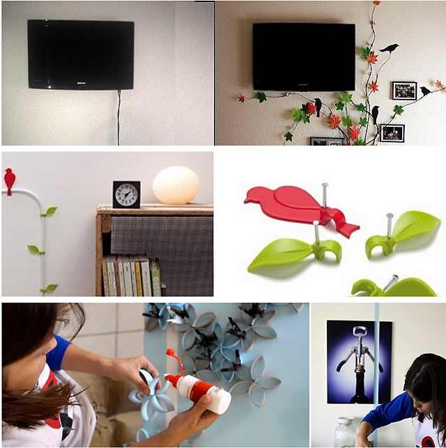 як заховати шнур від телевізора на стіні