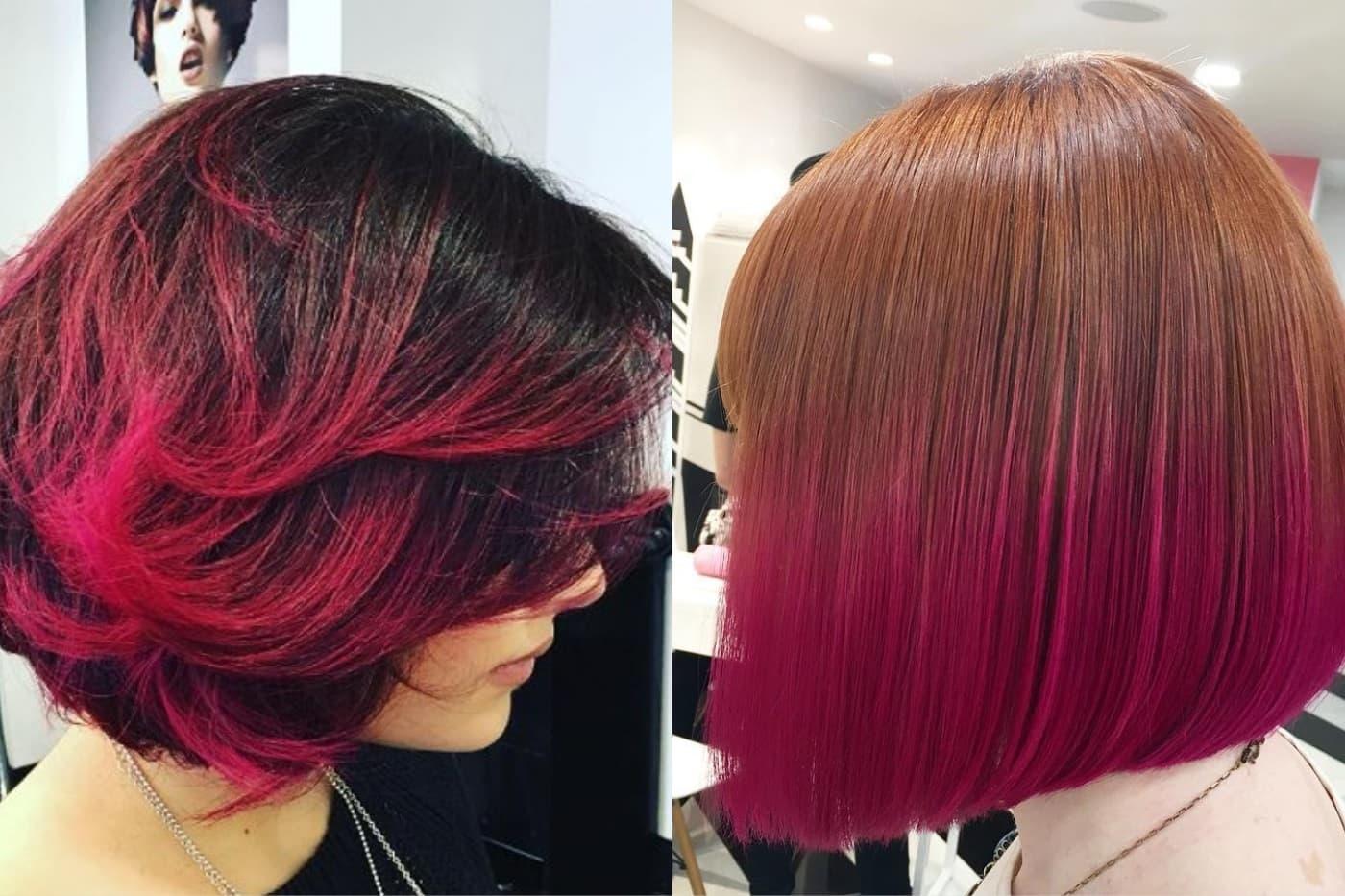 двоколірне фарбування на кортке волосся