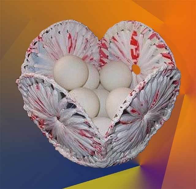 кошик для яєць з сд дисків