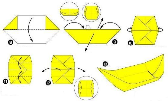 човник орігамі