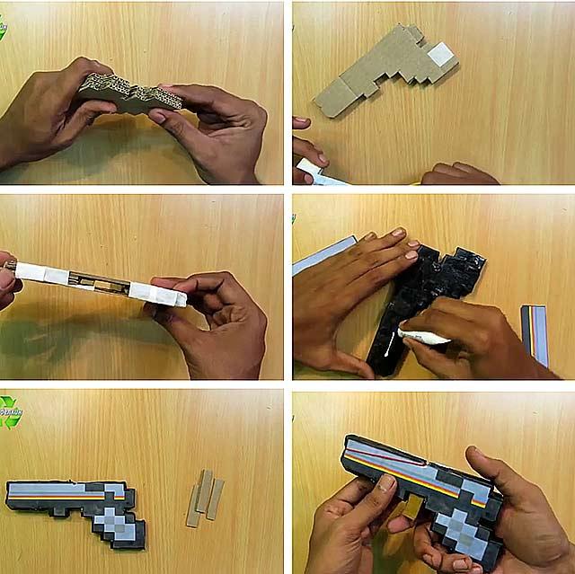 як зробити з паперу зброю