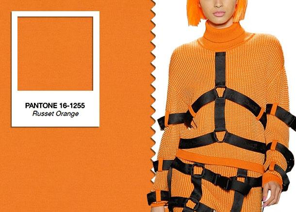колір рудий апельсин в одязі 2019