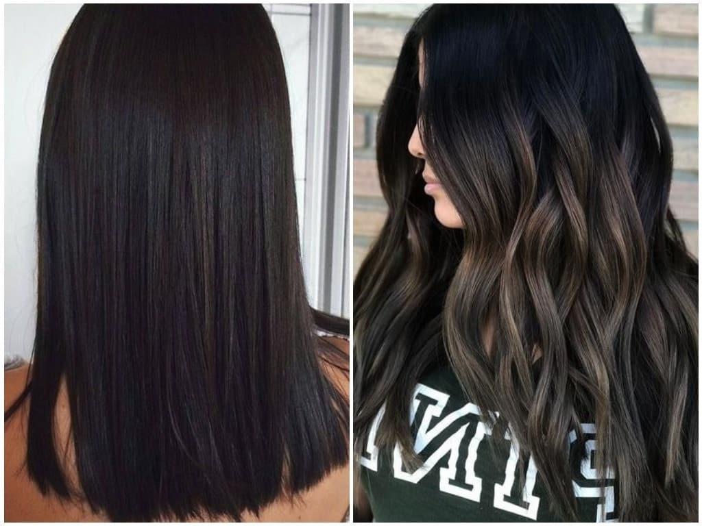 модні кольори для брюнеток на середнє волосся 2019