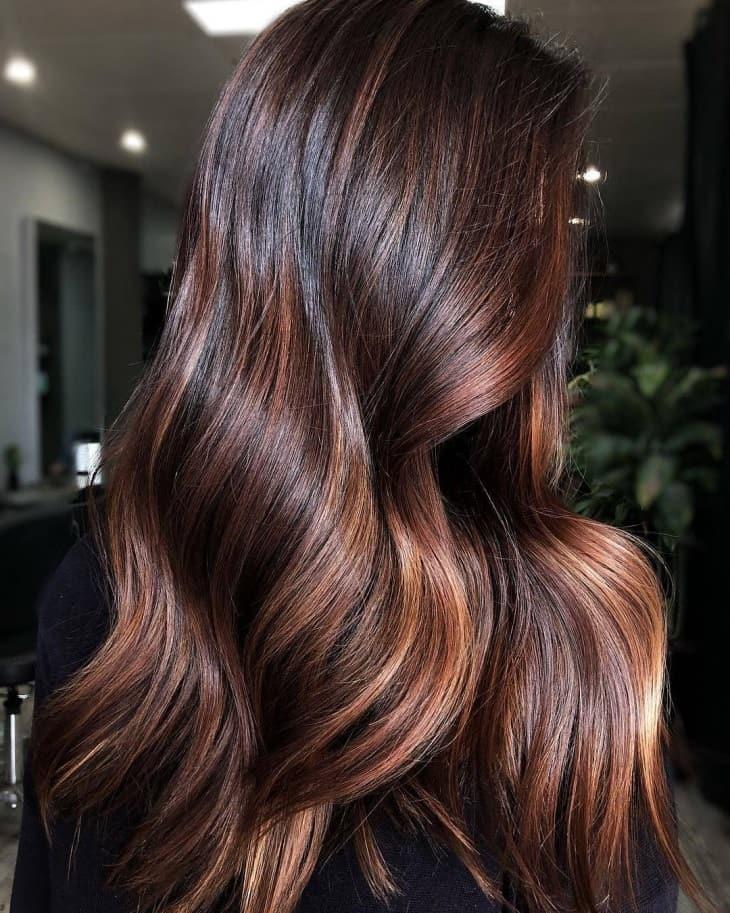 фарбування волосся 2019 для брюнеток