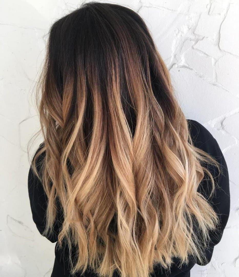 баляж на довге волосся