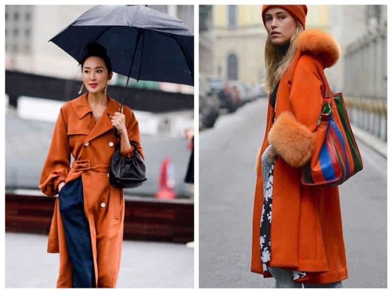 помаранчеве жіноче пальто 2019
